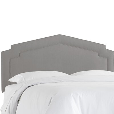 Cynthia Smooth Upholstered Panel Headboard Size: Full, Upholstery Color: Gray