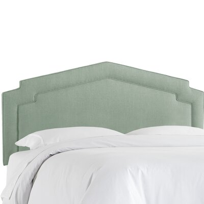 Cynthia Smooth Upholstered Panel Headboard Size: Full, Upholstery Color: Swedish Blue