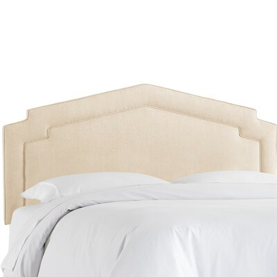 Cynthia Smooth Upholstered Panel Headboard Size: Full, Upholstery Color: Talc