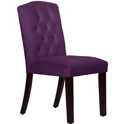 Cyrus Tufted Side chair Upholstery Color: Aubergine
