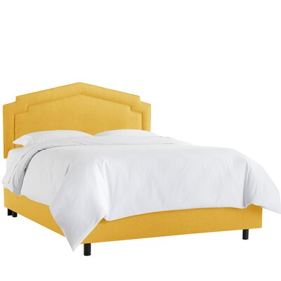 Cynthia Smooth Linen Upholstered Panel Bed Size: Twin, Headboard Color: French Yellow