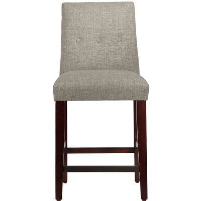 Cyrus 26 Bar Stool Upholstery Color: Feather
