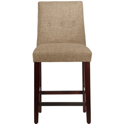 Cyrus 26 Bar Stool Upholstery Color: Linen