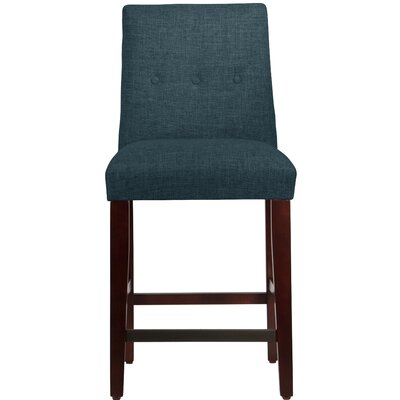 Cyrus 26 Bar Stool Upholstery Color: Navy