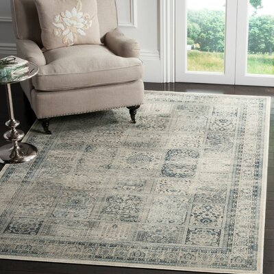 Cyrus Green/Blue Area Rug Rug Size: 6'7