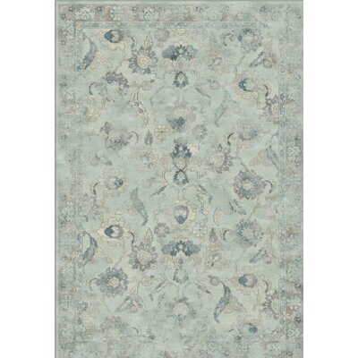 Crestshire Light Blue/Light Gray Area Rug Rug Size: Rectangle 8 x 112