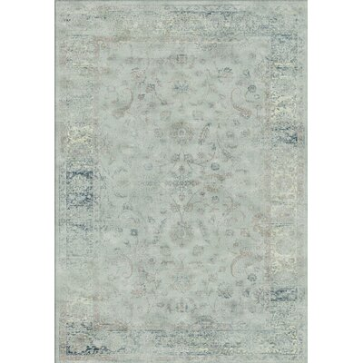 Crestshire Blue Area Rug Rug Size: Rectangle 53 x 76