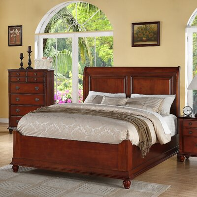 Daley Panel Bed Finish: Dark Brown, Size: Full