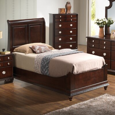 Daley Panel Bed Size: Twin, Color: Cappuccino