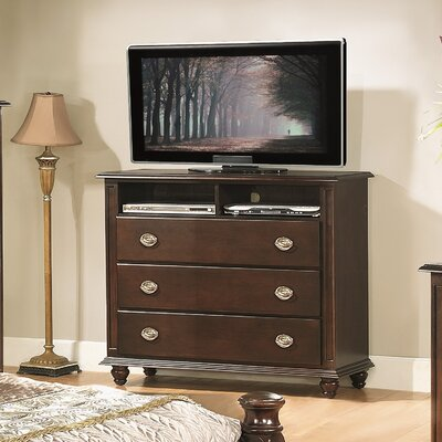 Daley 3 Drawer Media Chest Finish: Cappuccino