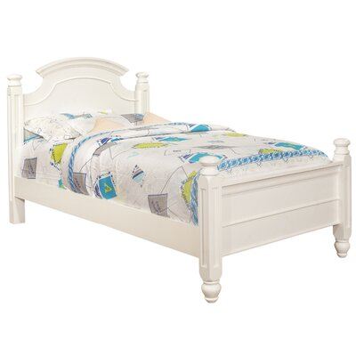 Daley Panel Bed Size: Twin, Color: White