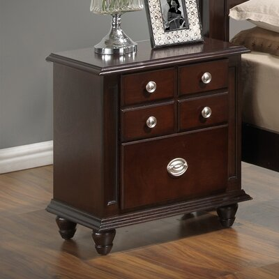 Daley 2 Drawer Night Stand Finish: Cappuccino