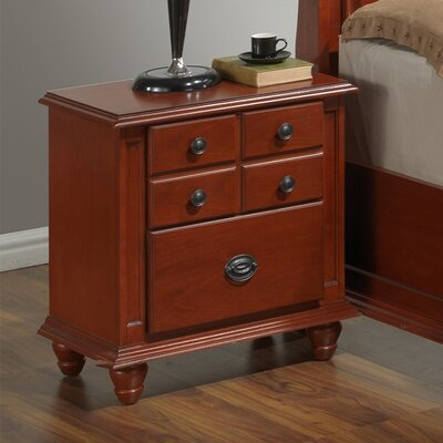 Daley 2 Drawer Night Stand Color: Cherry