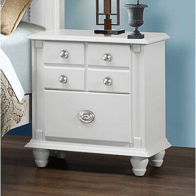 Daley 2 Drawer Night Stand Color: White