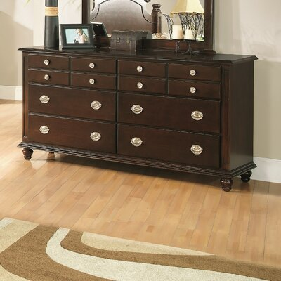 Daley 6 Drawer Double Dresser Color: Cappuccino