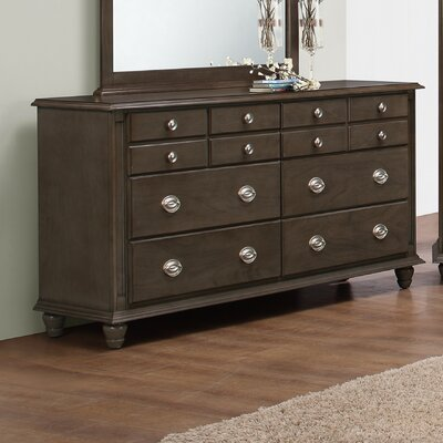 Daley 6 Drawer Dresser Finish: Gray