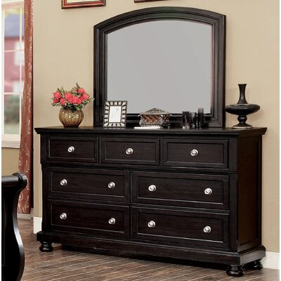 Dean Transitional Dresser and Mirror