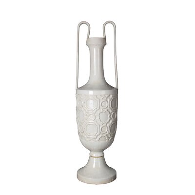 Amphora Ceramic Vase with Handles Size: Large