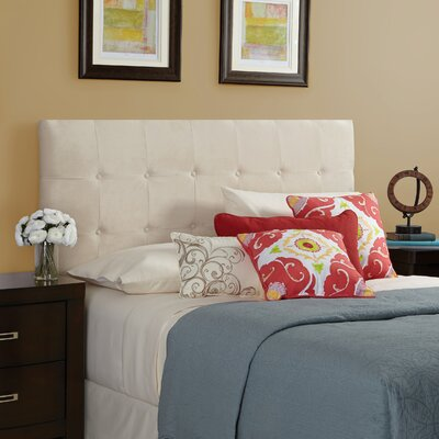 Dawn Upholstered Panel Headboard Size: Full, Upholstery: Ivory