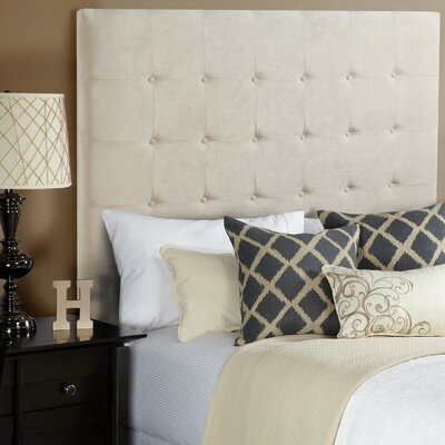 Dawn Upholstered Panel Headboard Upholstery: Ivory, Size: Queen