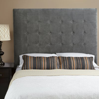 Dawn Upholstered Panel Headboard Size: Full, Upholstery: Smoke Grey