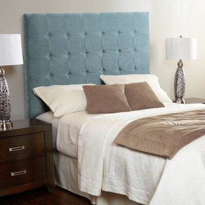 Dawn Upholstered Panel Headboard Size: Full, Upholstery: Spa Blue
