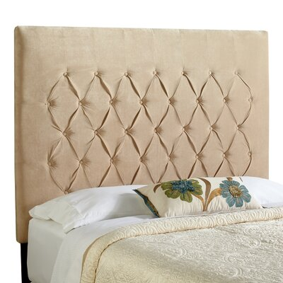 Dawn Upholstered Panel Headboard Size: Full, Upholstery: Sand Beige Velvet