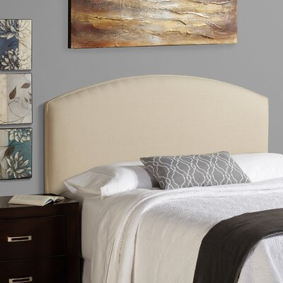 Dawn Curved Upholstered Panel Headboard Size: Full, Upholstery: Ivory