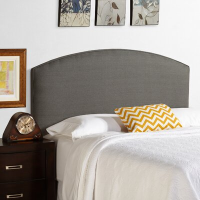 Dawn Curved Upholstered Panel Headboard Size: King, Upholstery: Grey