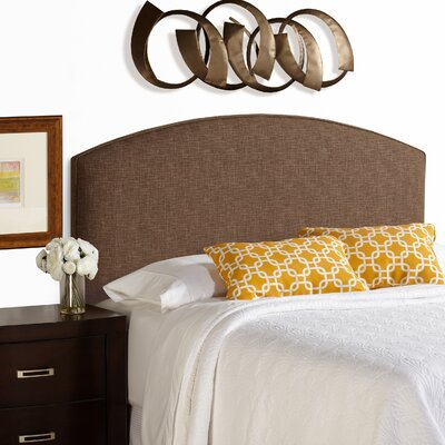 Dawn Curved Upholstered Panel Headboard Size: King, Upholstery: Dark Chocolate