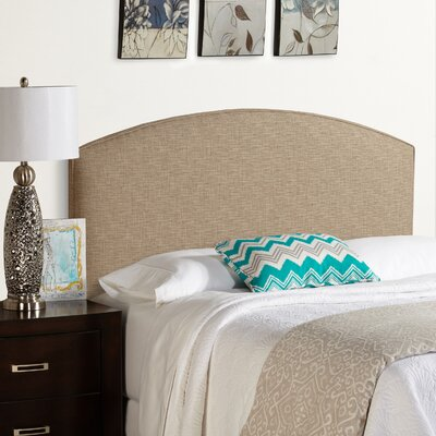 Dawn Curved Upholstered Panel Headboard Size: Full, Upholstery: Beige
