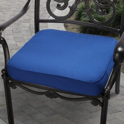 Deborah Outdoor Dining Chair Cushion Size: 19 inch, Fabric: Blue