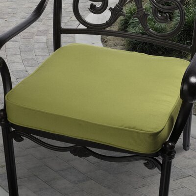 Deborah Outdoor Dining Chair Cushion Size: 20 inch, Fabric: Green