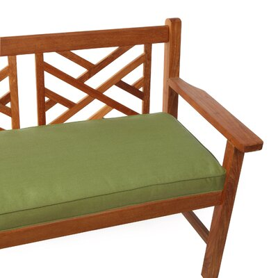 Deborah Outdoor Bench Cushion Size: 48, Fabric: Hunter Green