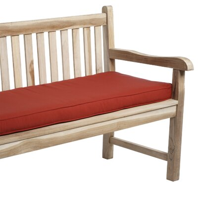 Deborah Outdoor Bench Cushion Size: 48, Fabric: Red