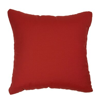 Deborah Outdoor Throw Pillow Size: 18 H x 18 W, Color: Red