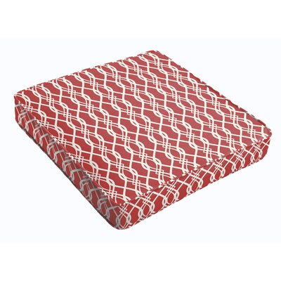 Outdoor Dining Chair Cushion Fabric: Red