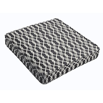 Outdoor Dining Chair Cushion Fabric: Black