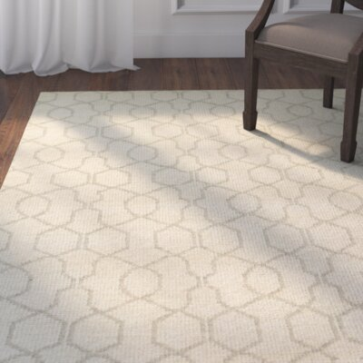 Morton Hand-Knotted Area Rug Rug Size: Rectangle 56 x 8
