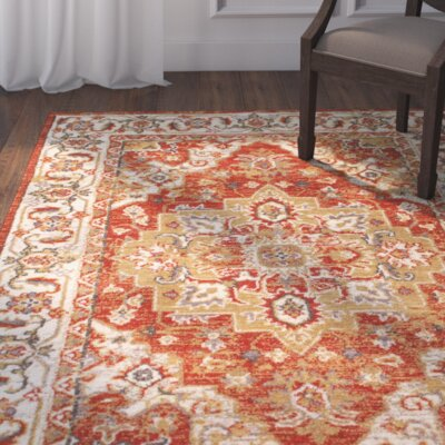 Antora Red Area Rug