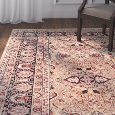 Marion Cream/Navy Area Rug Rug Size: Rectangle 9 x 12