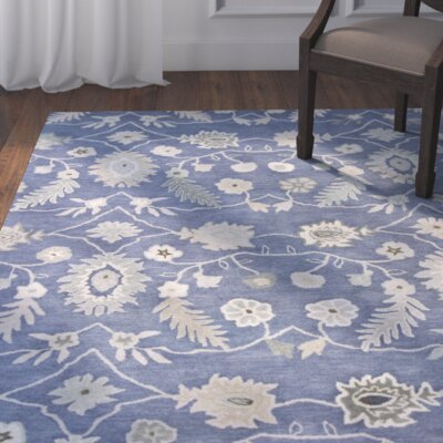 Madison Hand-Tufted Wool Azure Area Rug Rug Size: Runner 23 x 8