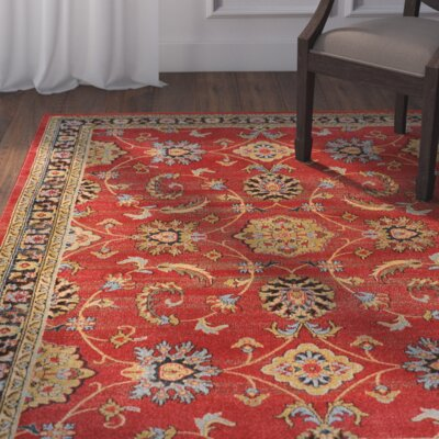 Concord Red Area Rug Rug Size: 7'8 x 10'2