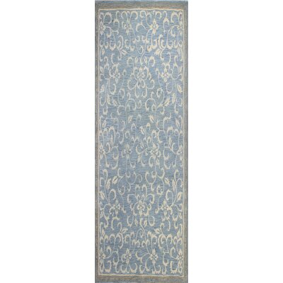 Danforth Hand-Tufted Light Blue Area Rug Rug Size: Runner 26 x 8