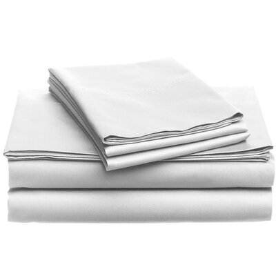 Deering Egyptian Dynamix 850 Thread Count Cotton Sheet Set Size: King, Color: White