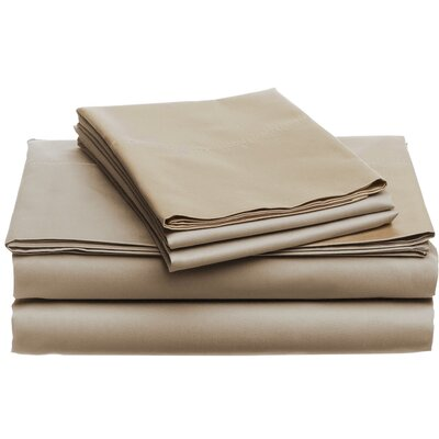 Deering Egyptian Dynamix 850 Thread Count Cotton Sheet Set Color: Taupe, Size: Queen