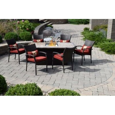 Delbert South Beach 7 Piece Dining Set
