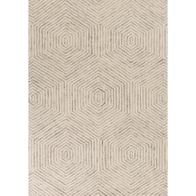 Delbert Hand-Tufted Ivory Area Rug Rug Size: 5 x 7