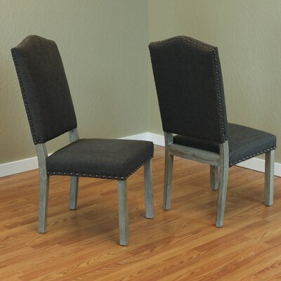 Devonshire Parsons Chair Upholstery: Charcoal Gray