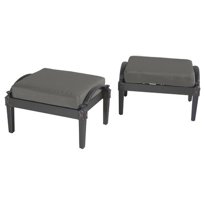 Portsmouth Club Ottoman with Cushion